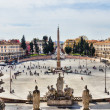 Piazza del Popolo in Rome — Stock Photo