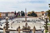 Piazza del Popolo in Rome — Stock Photo