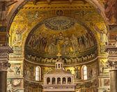 St Maria Basilica in Trastevere in Rome — Stock Photo