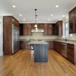 Kitchen in new construction home — Stock Photo #8656012