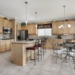 Large kitchen with island — Stock Photo #8656068