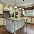 Stock Photo: Kitchen with large granite island