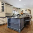 Kitchen with large center island — Stock Photo