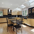 Kitchen with skylights — Foto de Stock