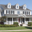 Suburban home with front porch — Stock Photo #8657063