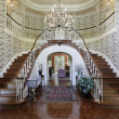 Large foyer with double staircase — Stock Photo