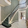 Stock Photo: Foyer with green stairs