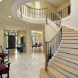 Foyer with curved staircase — Stock Photo #8657618