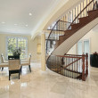 Foyer with curved staircase — Stock Photo #8657627