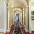 Hallway with curved arches — Stock Photo