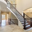 Foyer with spiral staircase - Stockfoto
