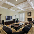 Stock Photo: Family room with ceiling beams