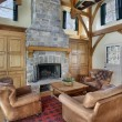 Family room with wood beams — Stock Photo #8658170