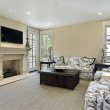 Family room with fireplace — Stock Photo #8658231