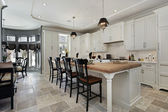 Kitchen in luxury home — Stok fotoğraf