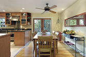 Eating area of kitchen — Stock Photo