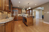 кухня в перестроенный дом — Стоковое фото