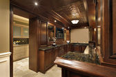 Bar in basement of luxury home — Stock Photo
