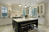 Kitchen with granite countertops — Stok fotoğraf