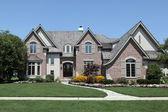 Large brick home — Stock Photo