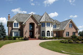 Large home with turret — Stock Photo