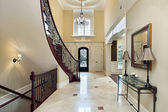 Foyer with second story window — Stock Photo