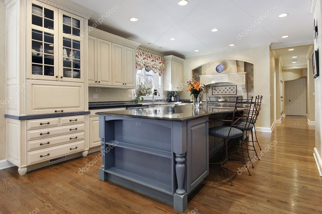 Kitchen with large center island | Stock Photo © lmphot #