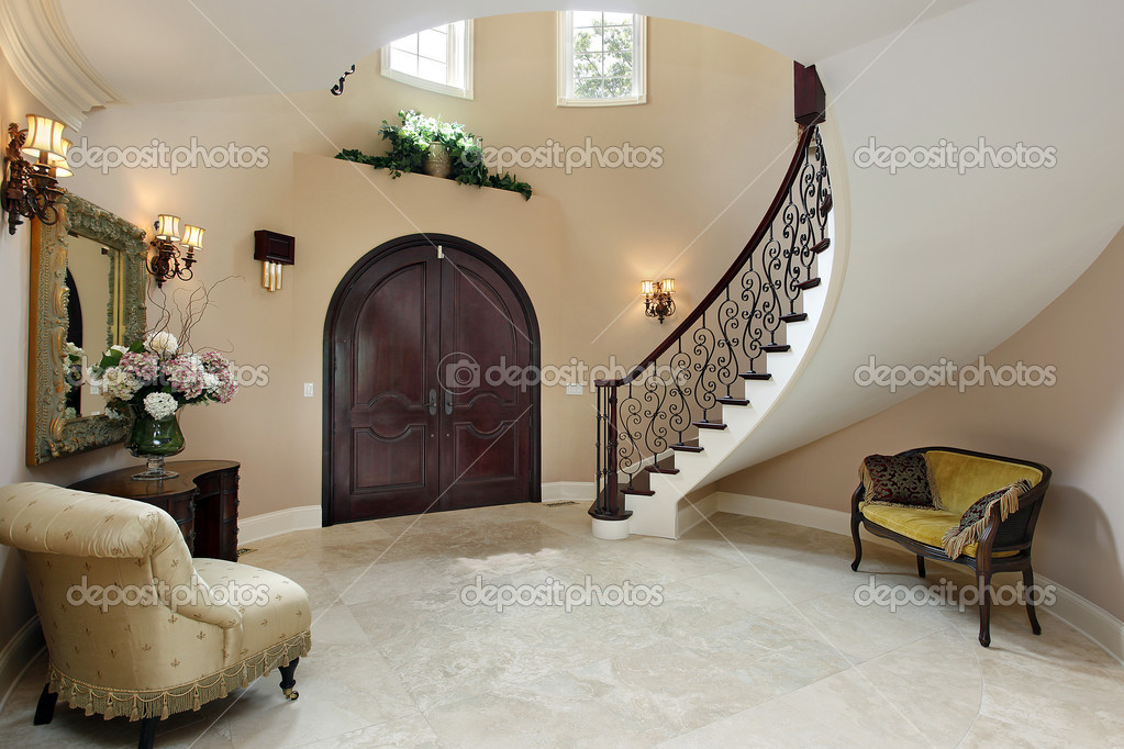 Stair Wall Decor High Ceilings Staircases
