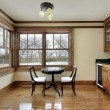 Breakfast room with wood cabinetry - Stock Photo