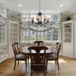 Stock Photo: Breakfast room with wall of windows