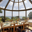 Stock Photo: Glassed-domed breakfast room