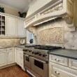 Kitchen with stove hood design — Foto de Stock