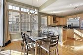 Breakfast area in luxury home — Stock Photo