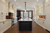 Kitchen in new construction home — Stock Photo