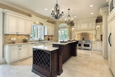 Kitchen with double deck island — Stock Photo