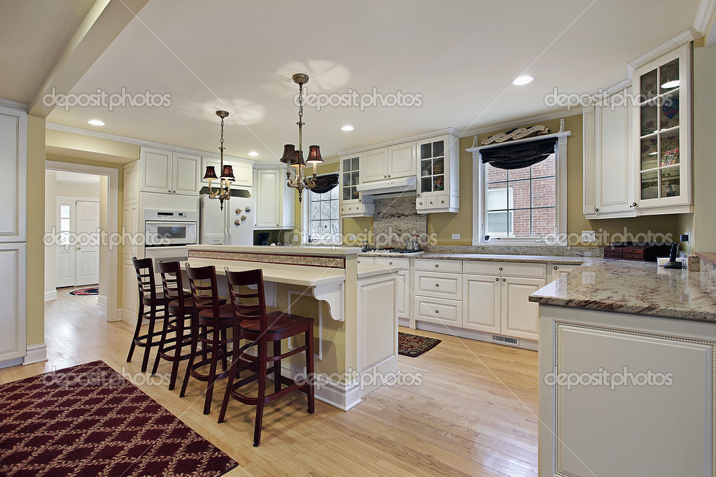 Cocina con gabinetes blancos foto de stock lmphot 8669581 for Gabinetes de cocina blancos