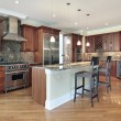 Kitchen with large island — Stock Photo #8670056