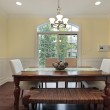 Eating area with dining room view — Stock Photo #8671034
