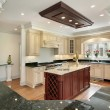 Kitchen with center island — Stock Photo
