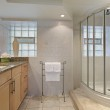 Bathroom with glass shower — Stock Photo