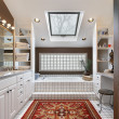 Master bath with skylight — Stockfoto