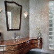 Powder room with leaded glass — Stock Photo #8677787