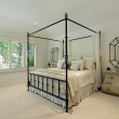 Master bedroom with tray ceiling — Stock Photo #8679219