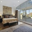 Master bedroom with large deck — Stock Photo #8679435