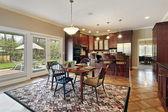 天井视图的厨房 — 图库照片