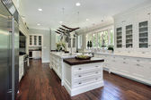 Kitchen with white cabinetry — Stock Photo