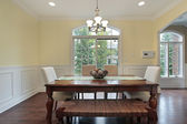 Eating area with dining room view — Foto de Stock