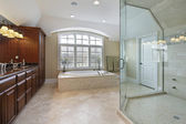 Large master bathroom — Stock Photo