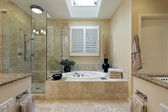 Luxury master bath with skylight — Stock Photo