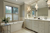 Master bath with marble counter — Stock Photo